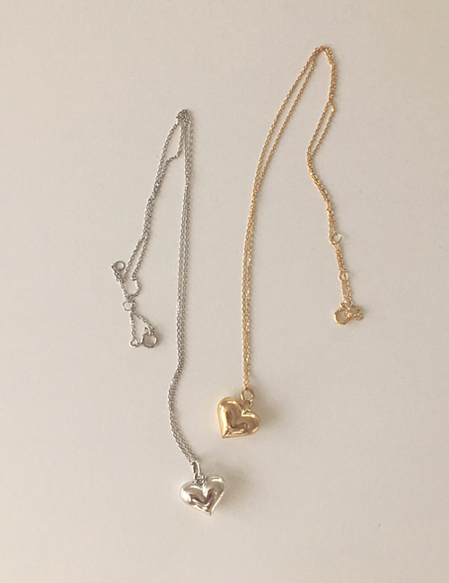 silver 925 volume heart necklace