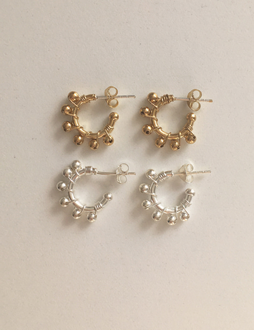 silver 925 tambourine earring