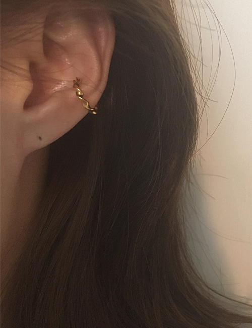 silver 925 into earcuff[2color]
