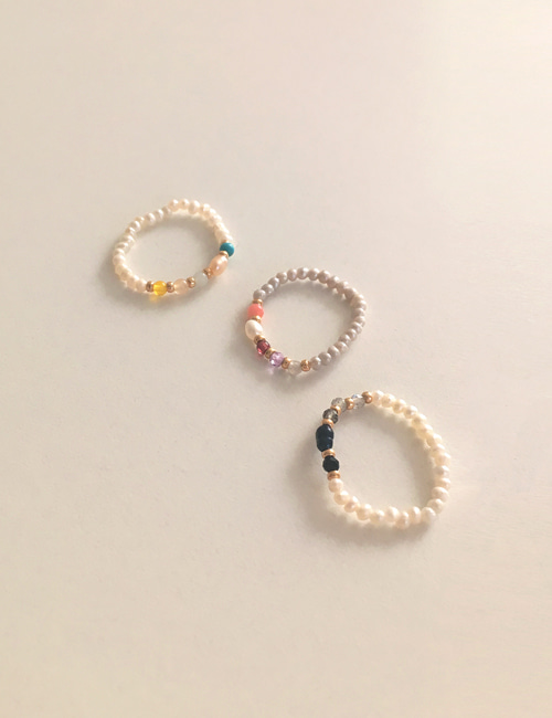 mix pearl beads ring