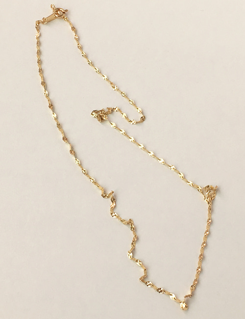 14k cube necklace
