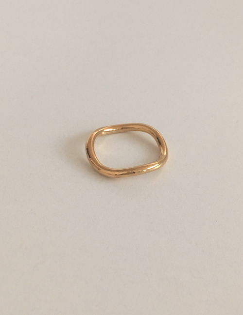 slim wave ring [gold]