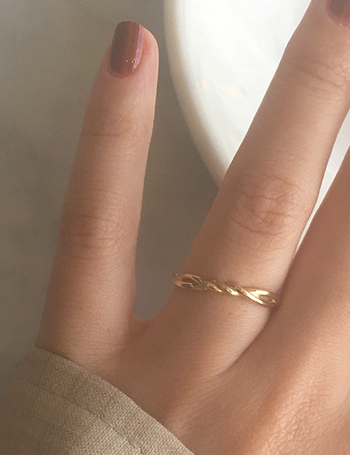 14k gold knit ring