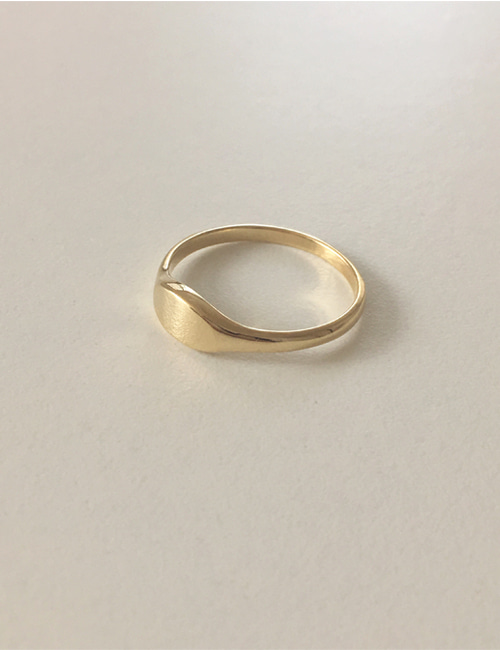 14k demi signet ring