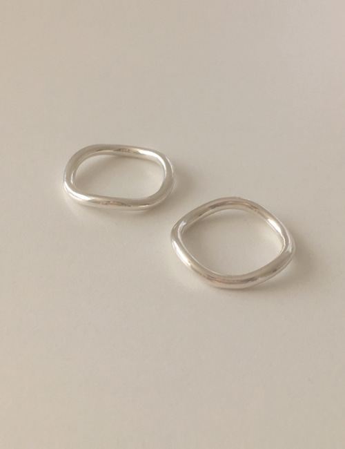 silver 925 slim wave ring