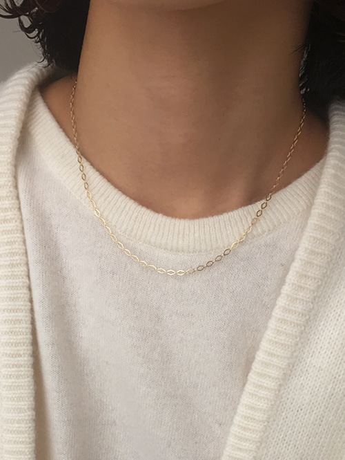 14k matter necklace