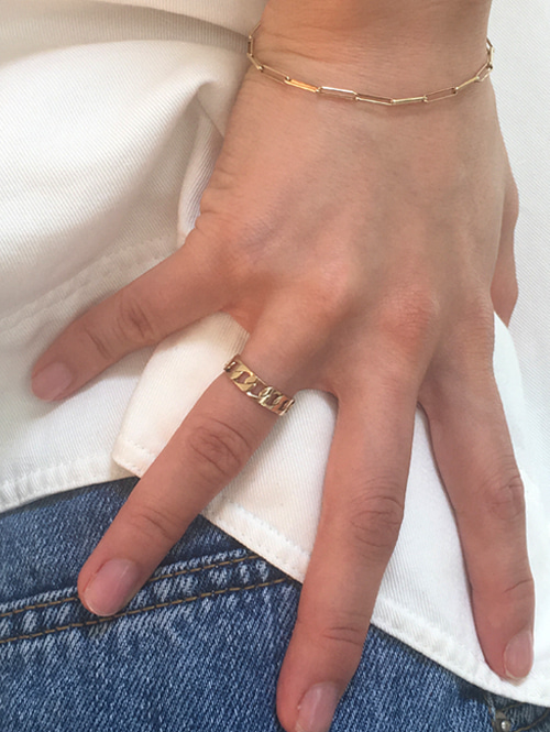 14k all chain ring